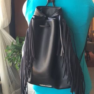 VICTORIA'S SECRET BLACK BACKPACK WITH FRINGE